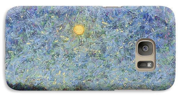 Galaxy Case featuring the painting Cornbread Moon - Square by James W Johnson