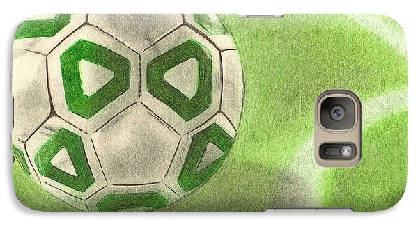 Galaxy Case featuring the drawing Corner Kick by Troy Levesque
