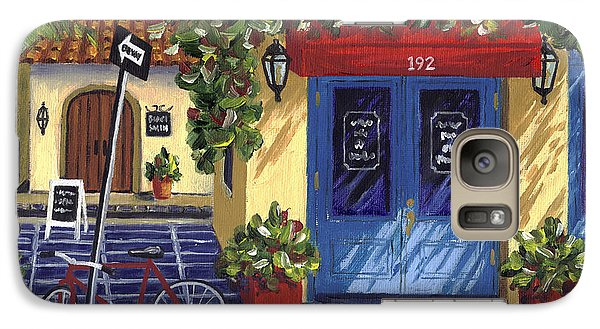 Galaxy Case featuring the painting Corner Store by Val Miller