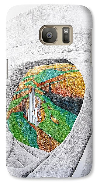 Galaxy Case featuring the painting Cornered Stones by A  Robert Malcom