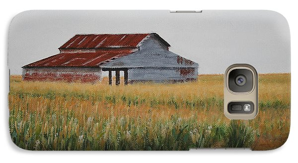 Galaxy Case featuring the painting Cornfield Barn by Jimmie Bartlett