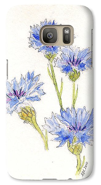 Galaxy Case featuring the painting Cornflowers by Stephanie Grant