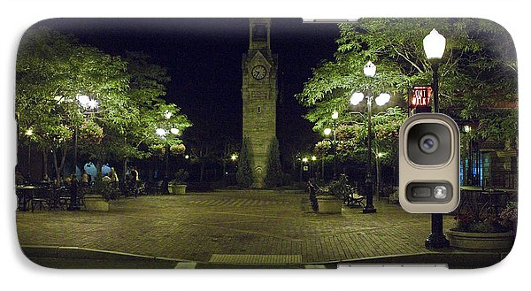 Galaxy Case featuring the photograph Corning Clock Tower by Tom Doud