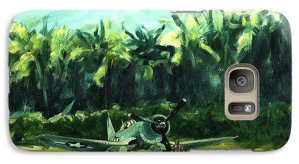 Galaxy Case featuring the painting Corsair In Jungle by Stephen Roberson