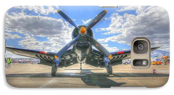 Corsair On The Flight Line At Reno Air Races Galaxy S7 Case