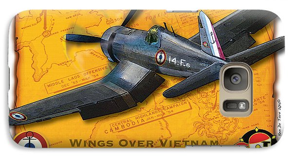 Galaxy Case featuring the photograph Corsair  Over Indochina by Kenneth De Tore
