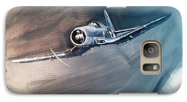 Galaxy Case featuring the painting Corsair Sketch 1 by Stephen Roberson