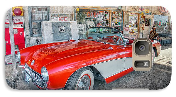 Galaxy Case featuring the photograph Corvette At Hackberry General Store by Marianne Jensen