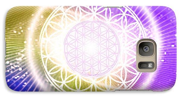 Galaxy Case featuring the digital art Cosmic Adjustment by Ute Posegga-Rudel