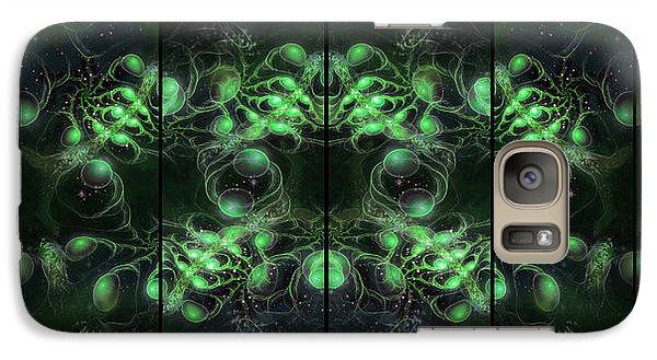 Cosmic Alien Eyes Green Galaxy S7 Case