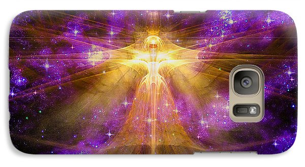 Galaxy Case featuring the digital art Cosmic Angel by Shawn Dall