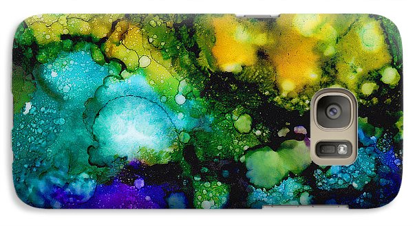 Galaxy Case featuring the painting Cosmic Birth by Angela Treat Lyon
