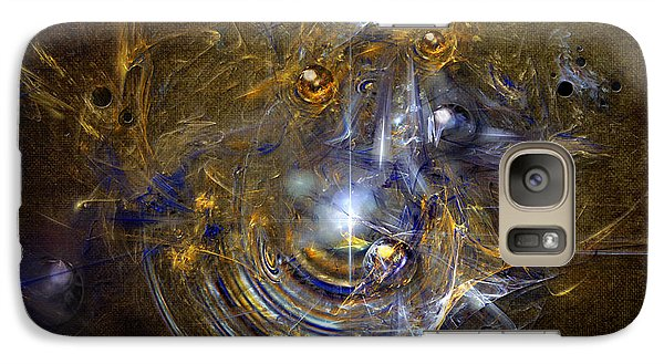 Galaxy Case featuring the painting Cosmic Bubbles by Alexa Szlavics