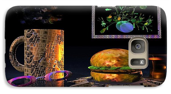 Galaxy Case featuring the digital art Cosmic Burger by Jacqueline Lloyd