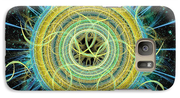 Galaxy Case featuring the digital art Cosmic Circle Fusion by Shawn Dall