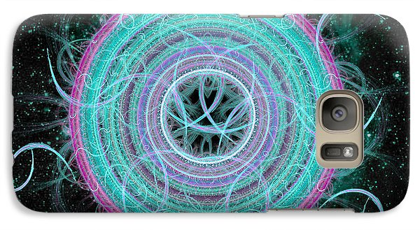 Galaxy Case featuring the digital art Cosmic Circle by Shawn Dall