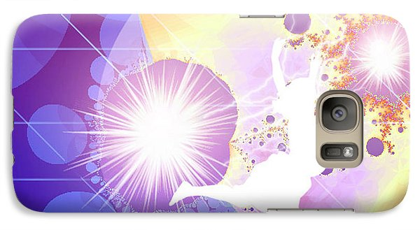 Galaxy Case featuring the digital art Cosmic Dance by Ute Posegga-Rudel