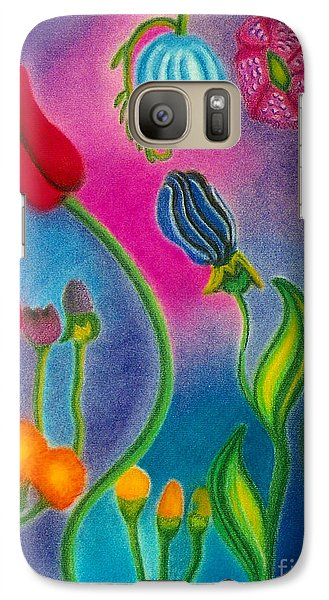 Galaxy Case featuring the drawing Cosmic Gargen by Christine Perry