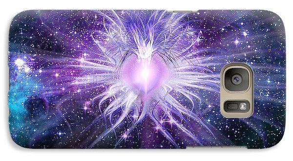 Galaxy Case featuring the digital art Cosmic Heart Of The Universe by Shawn Dall