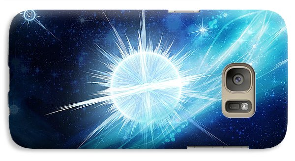 Galaxy Case featuring the digital art Cosmic Icestream by Shawn Dall