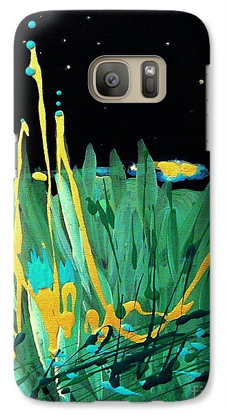 Galaxy Case featuring the painting Cosmic Island by Holly Carmichael