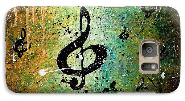 Trombone Galaxy S7 Case - Cosmic Jam by Carmen Guedez