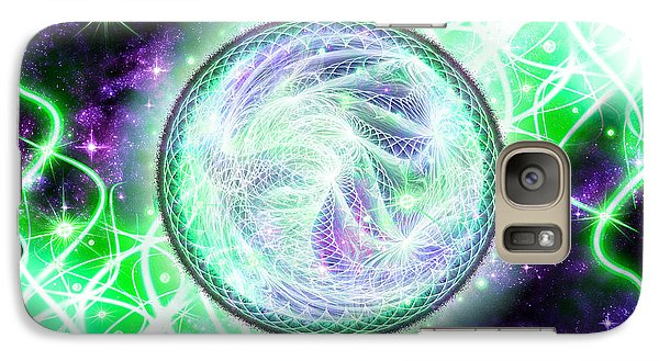 Galaxy Case featuring the digital art Cosmic Lifestream by Shawn Dall