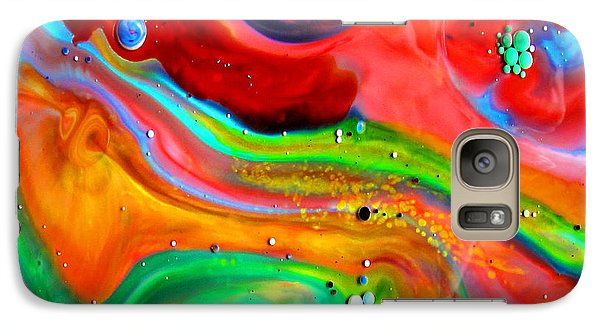Galaxy Case featuring the painting Cosmic Lights by Joyce Dickens
