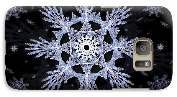 Galaxy Case featuring the digital art Cosmic Snowflakes by Shawn Dall