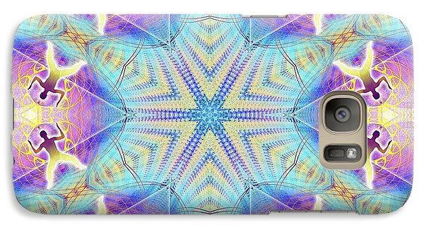 Cosmic Spiral Kaleidoscope 17 Galaxy S7 Case