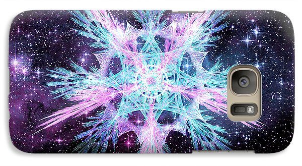 Galaxy Case featuring the digital art Cosmic Starflower by Shawn Dall