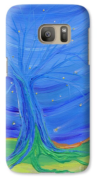 Galaxy Case featuring the painting Cosmic Tree by First Star Art