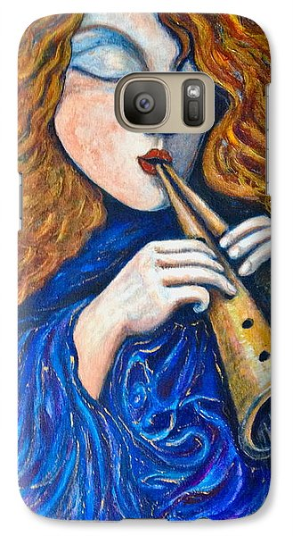 Galaxy Case featuring the painting Cosmic Tune by Rae Chichilnitsky