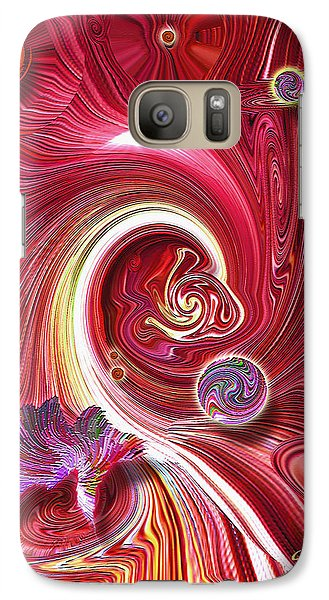Galaxy Case featuring the mixed media Cosmic Waves by Carl Hunter