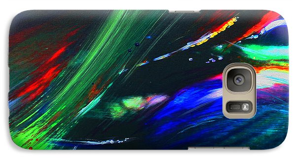 Galaxy Case featuring the painting Cosmos by Jeanette French