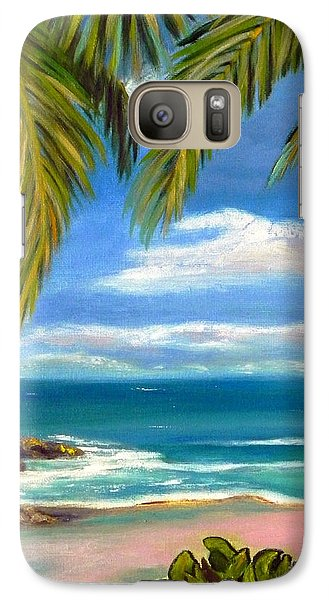Galaxy Case featuring the painting Costa Rica Rocks   Costa Rica Seascape  by Shelia Kempf