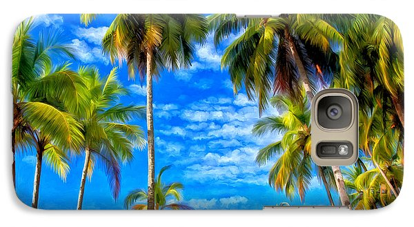Galaxy Case featuring the painting Costa Rican Paradise by Michael Pickett
