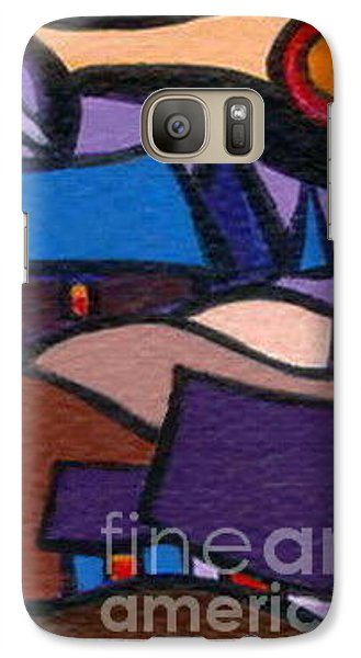 Galaxy Case featuring the painting Cosy Country Cabins by Joyce Gebauer