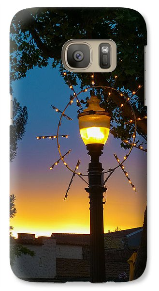 Galaxy Case featuring the photograph Cotati Lights by Jan Davies