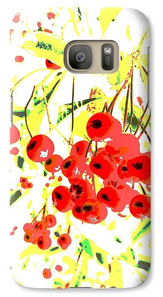 Galaxy Case featuring the photograph Cotoneaster by Barbara Moignard