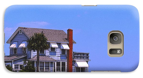 Galaxy Case featuring the photograph Cottage Blue by Laura Ragland