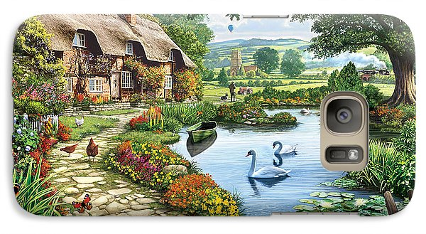 Cottage By The Lake Galaxy S7 Case
