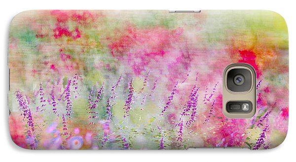 Galaxy Case featuring the photograph Cottage Garden Impressionism by Linde Townsend