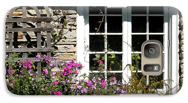 Galaxy Case featuring the photograph Cottage Garden Window by Living Color Photography Lorraine Lynch