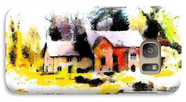 Galaxy Case featuring the painting Cottage In The Woods by Wayne Pascall
