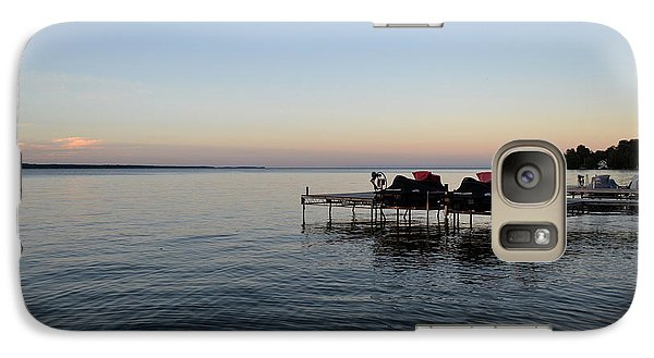 Galaxy Case featuring the photograph Cottage Sunset 2  by Lyle Crump