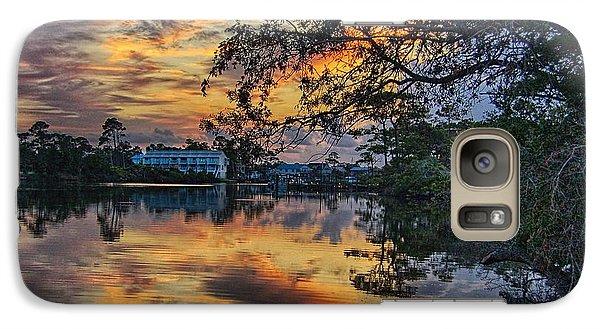 Galaxy Case featuring the digital art Cotton Bayou Sunrise by Michael Thomas