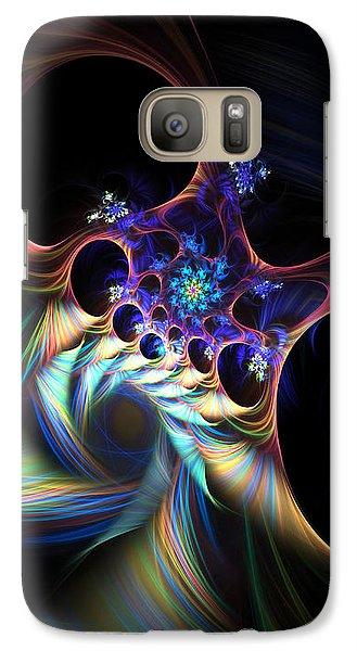 Galaxy Case featuring the digital art Cotton Candy 2 by Arlene Sundby