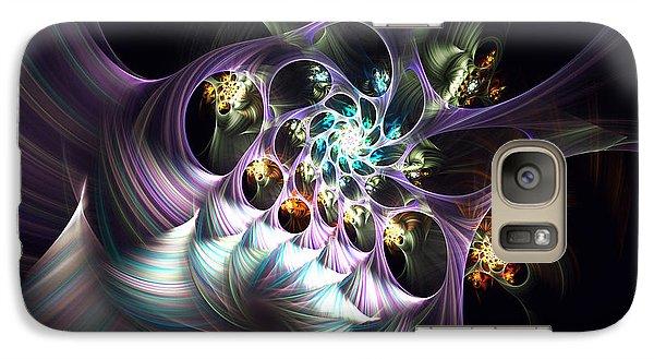 Galaxy Case featuring the digital art Cotton Candy by Arlene Sundby