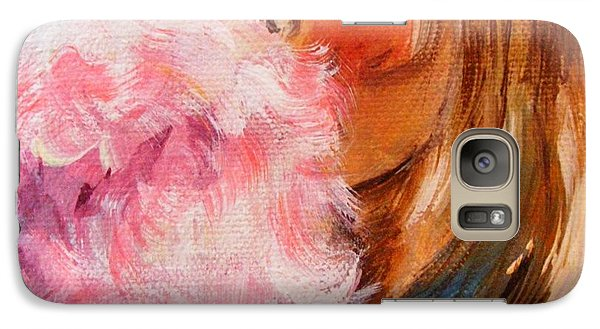 Galaxy Case featuring the painting Cotton Candy by Karen  Ferrand Carroll
